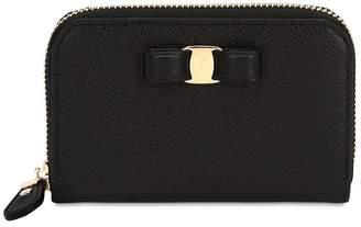 Salvatore Ferragamo Small Vara Leather Zip Around Wallet