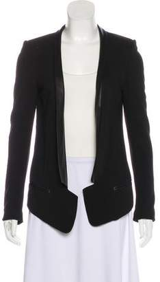Robert Rodriguez Collarless Open-Face Jacket