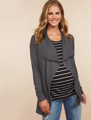 Motherhood Maternity Zip Drape Front Maternity Jacket