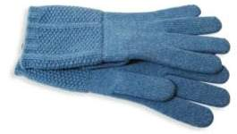 Portolano Textured Cashmere Gloves