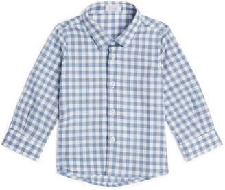 Il Gufo Cotton Check Long-Sleeved Shirt