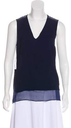 Thakoon Silk-Accented Sleeveless Top