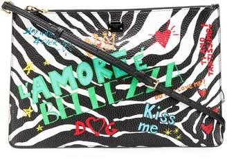 Dolce & Gabbana mural-print zebra clutch