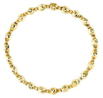 Henry Dunay 18K Hammered Bead Necklace