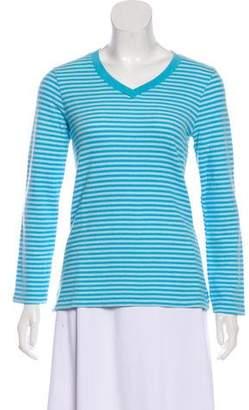 Oscar de la Renta Striped Long Sleeve Sweater