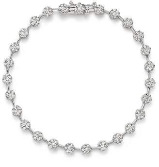 Bloomingdale's Diamond Pavé Flower Bracelet in 14K White Gold, 2.0 ct. t.w. - 100% Exclusive