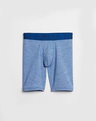 Express Blue Performance Mesh Extended Boxer Briefs