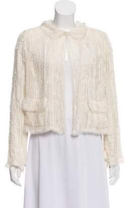 Chanel Embellished Raw-Edge Jacket