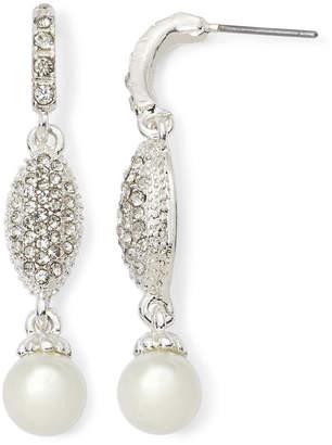 VIESTE ROSA Vieste Rhinestone and Simulated Pearl Linear Earrings