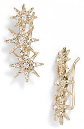 Women's Jenny Packham Stardust Ear Crawlers $40 thestylecure.com