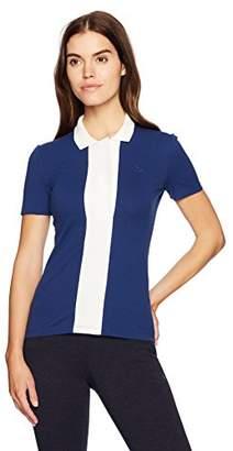 Lacoste Women's Short Sleeve Color Block Stretch Mini Pique Polo