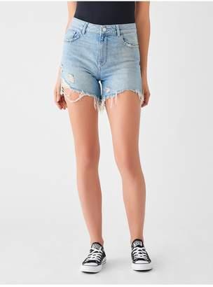 DL1961 Hepburn High Rise Wide Leg Short | Rains