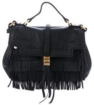 Brian Atwood Fringe Leather Crossbody Bag