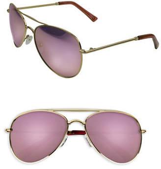 EDIT BY JEANNE BEKER Lacy 55mm Aviator Sunglasses