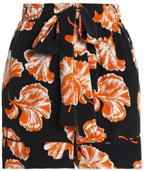 Ganni Floral-Print Crepe Shorts