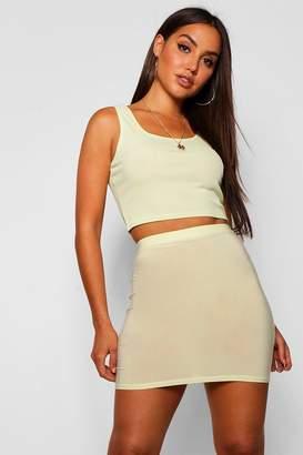 boohoo Slinky Mini Skirt