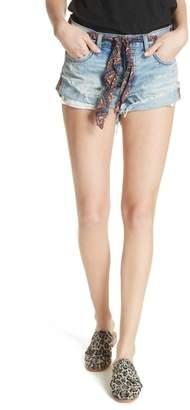 Free People Sashed & Relaxed Cutoff Denim Shorts