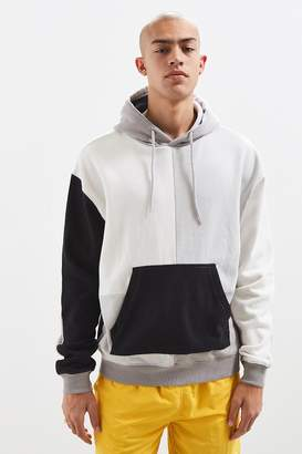 Urban Outfitters Grey Colorblocked Hoodie Sweatshirt