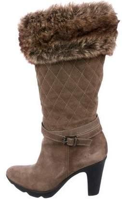 Aquatalia Shearling Knee-High Boots