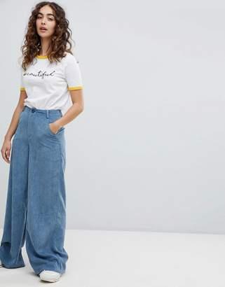Daisy Street wide leg trousers in cord
