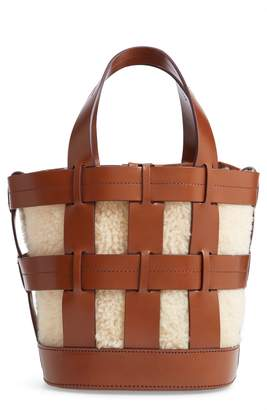 TRADEMARK Cooper Cage Leather & Genuine Shearling Tote