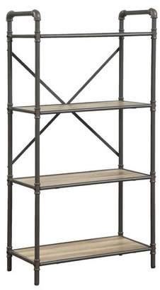 17 Stories Christofor Industrial Metal Frame Standard Bookcase