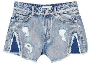 MANGO High-waist denim shorts
