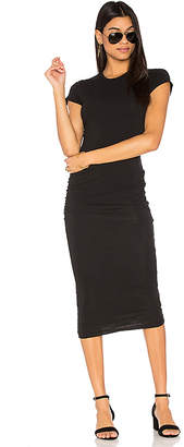 James Perse Classic Skinny Dress in Black & White $216 thestylecure.com