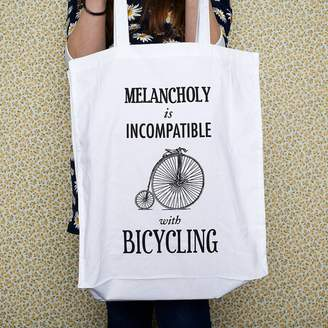 Of Life & Lemons Sale Bicycle Quote Tote Bag