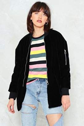 Nasty Gal Money Honey Velvet Bomber Jacket