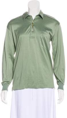 Lanvin Long Sleeve Collard Top
