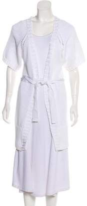 Valentino Longline Short Sleeve Cardigan