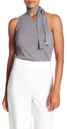 1 STATE 1.State Tie Neck One-Shoulder Top