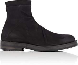 Barneys New York Men's Wrinkled-Vamp Nubuck Boots
