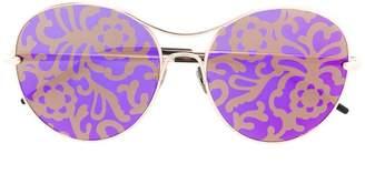 Pomellato Eyewear floral lens sunglasses