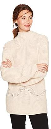Cable Stitch Women's Mock Neck Pullover Sweater