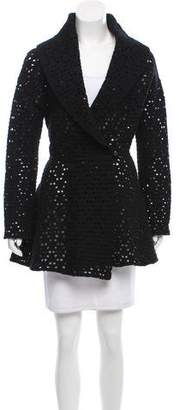 Alaia Virgin Wool Shawl-Collar Coat