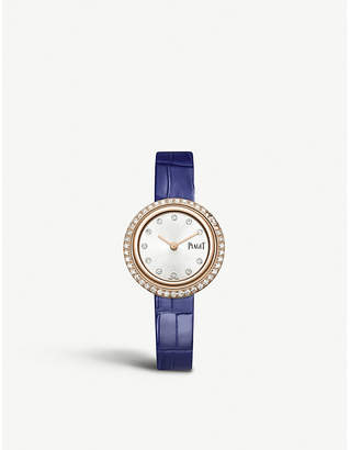Piaget G0A43082 18ct rose-gold and alligator leather watch