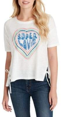 Jessica Simpson Eunice Side-Tie Graphic Tee