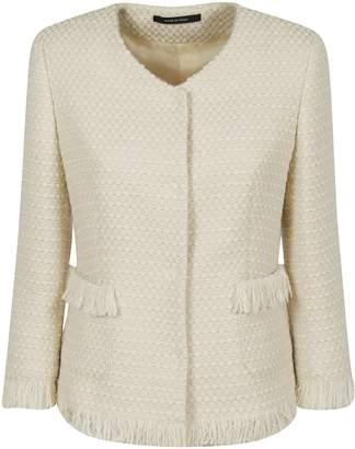 Tagliatore Fringe Tweed Jacket