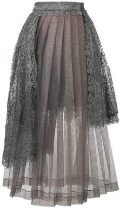 Ermanno Scervino lace overlay tulle skirt