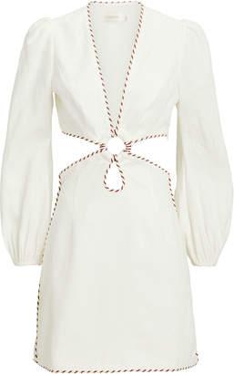 Zimmermann Corsage Braided Mini Dress