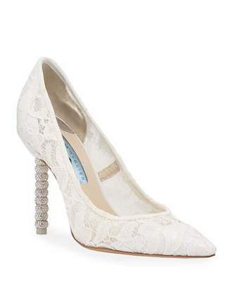 Sophia Webster Coco Crystal Lace Bridal Pumps