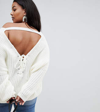 Micha Lounge Curve Oversized Jumper With Back Detail
