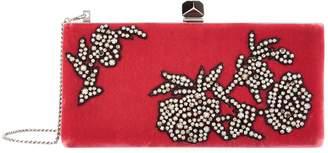 Jimmy Choo Celeste Velvet Floral Embellished Clutch Bag