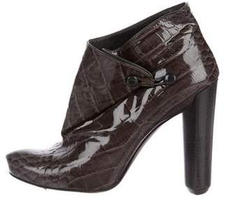 Louis Vuitton Patent Leather Embossed Booties