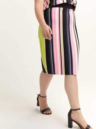 Striped Olivia Pencil Skirt - RACHEL Rachel Roy