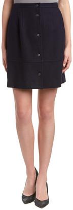 Tocca Wool-Blend A-Line Skirt