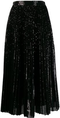 MSGM sequined midi skirt