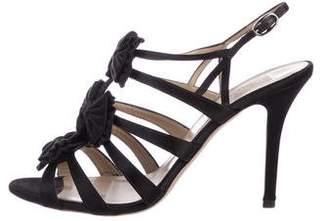 Valentino Satin Cage Sandals